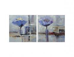 Obrazový set - Modré květy