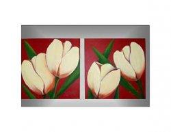 Obrazový set - Smetanové tulipány
