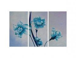 Obrazový set - Tři modré květy