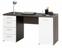 Počítačový stolek Plus 21, dub antracit/bílá