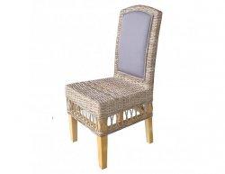 Ratanová jídelní židle MEGA - cubu grey