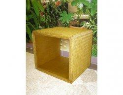 Ratanový obývací stolek DENNY, světlý