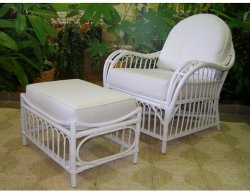 Ratanový set MADEIRA - bílý ratan