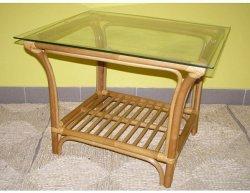 Ratanový stolek ANGELO - světlý