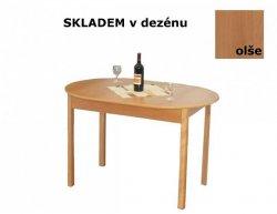 Rozkládací jídelní stůl R2, olše