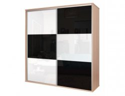 Šatní skříň BOS, bílá/černá