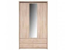 Šatní skříň se zrcadlem Norton 3D4S