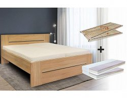 Set postel LORANO vč. matrace a roštu