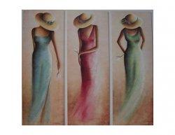 Trojdílný set - Žena v šatech