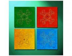 Vícedílné obrazy - Barevné čtverce