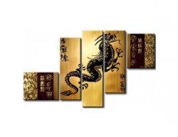 Vícedílné obrazy - Čínský drak