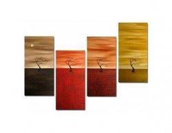 Vícedílné obrazy - Čtyři stromy