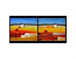 Vícedílné obrazy - Domek v poušti