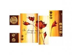Vícedílné obrazy - Krásné květy