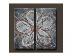 Vícedílné obrazy - Květ na tabuli