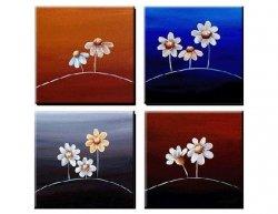 Vícedílné obrazy - Květinky