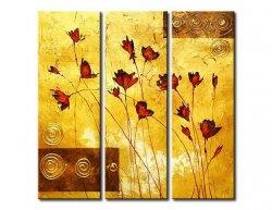Vícedílné obrazy - Květiny