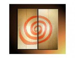 Vícedílné obrazy - Oranžová spirála
