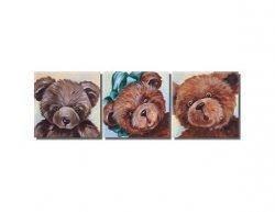Vícedílné obrazy - Rozpačití medvídci