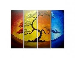 Vícedílné obrazy - Strom v barvách