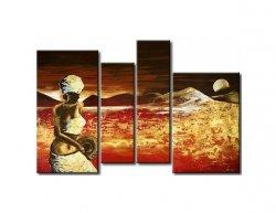 Vícedílné obrazy - Západ na poušti