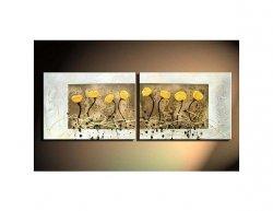 Vícedílné obrazy - Žluté květinky
