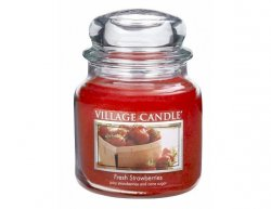 Vonná svíčka ve skle Čerstvé jahody-Fresh Strawberries, 16oz