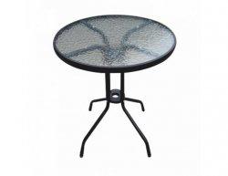 Zahradní stolek BORGEN TYP 1, tvrzené sklo / ocel