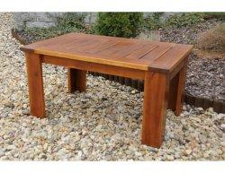 Zahradní stůl Mevan - kávový, bez povrchové úpravy