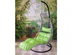 Závěsné relaxační křeslo NORA, zelený sedák