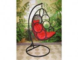 Závěsné relaxační křeslo SEWA, červený sedák
