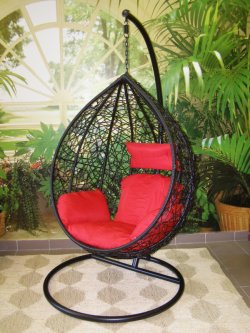 Závěsné relaxační křeslo TARA, červený sedák