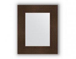 Zrcadlo bez fazety v rámu, bronzová láva