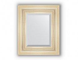 Zrcadlo s fazetou v rámu, leptané stříbro