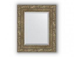 Zrcadlo s fazetou v rámu, ornament antická mosaz, rozměr 55x135 cm