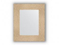Zrcadlo v rámu, zlatá listová textura