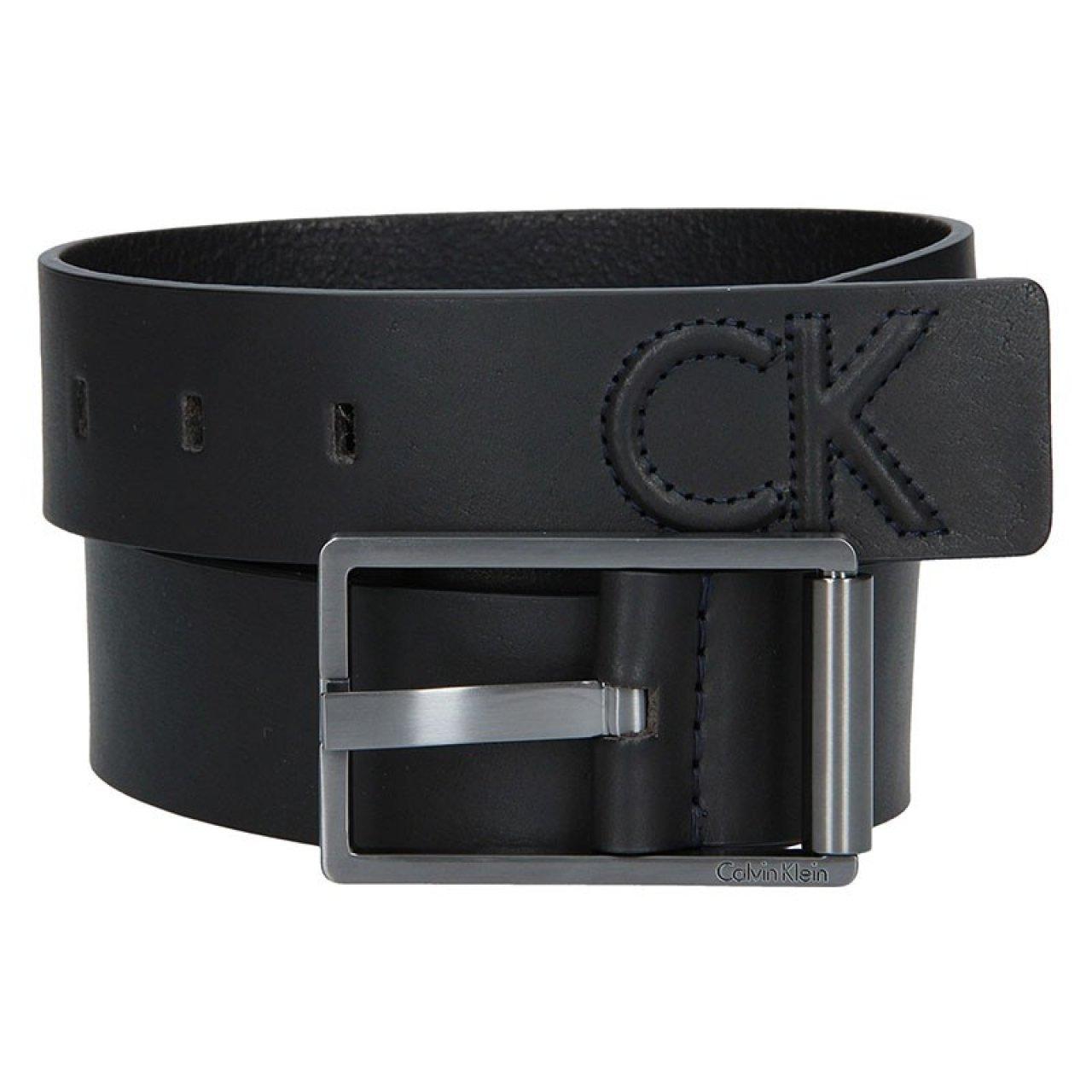 2da20242a2ff Černý kožený pánský opasek Calvin Klein Laurent