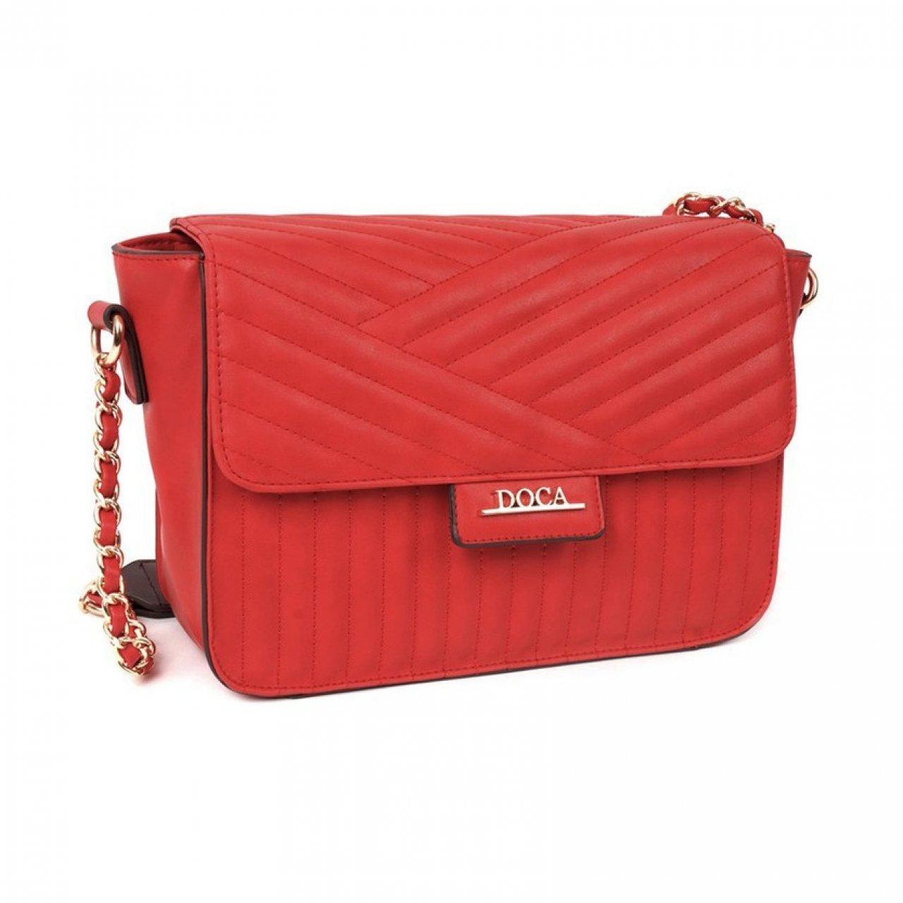 e296e784950b Dámská crossbody kabelka Doca 12982 - červená