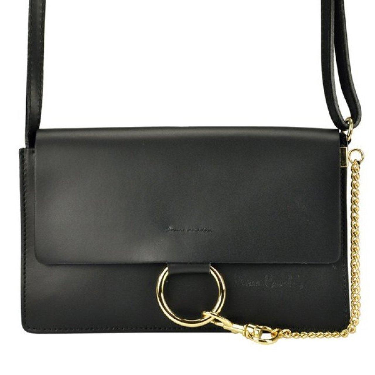 Dámská kožená kabelka Pierre Cardin Ruga - černá  c2c41062ea0