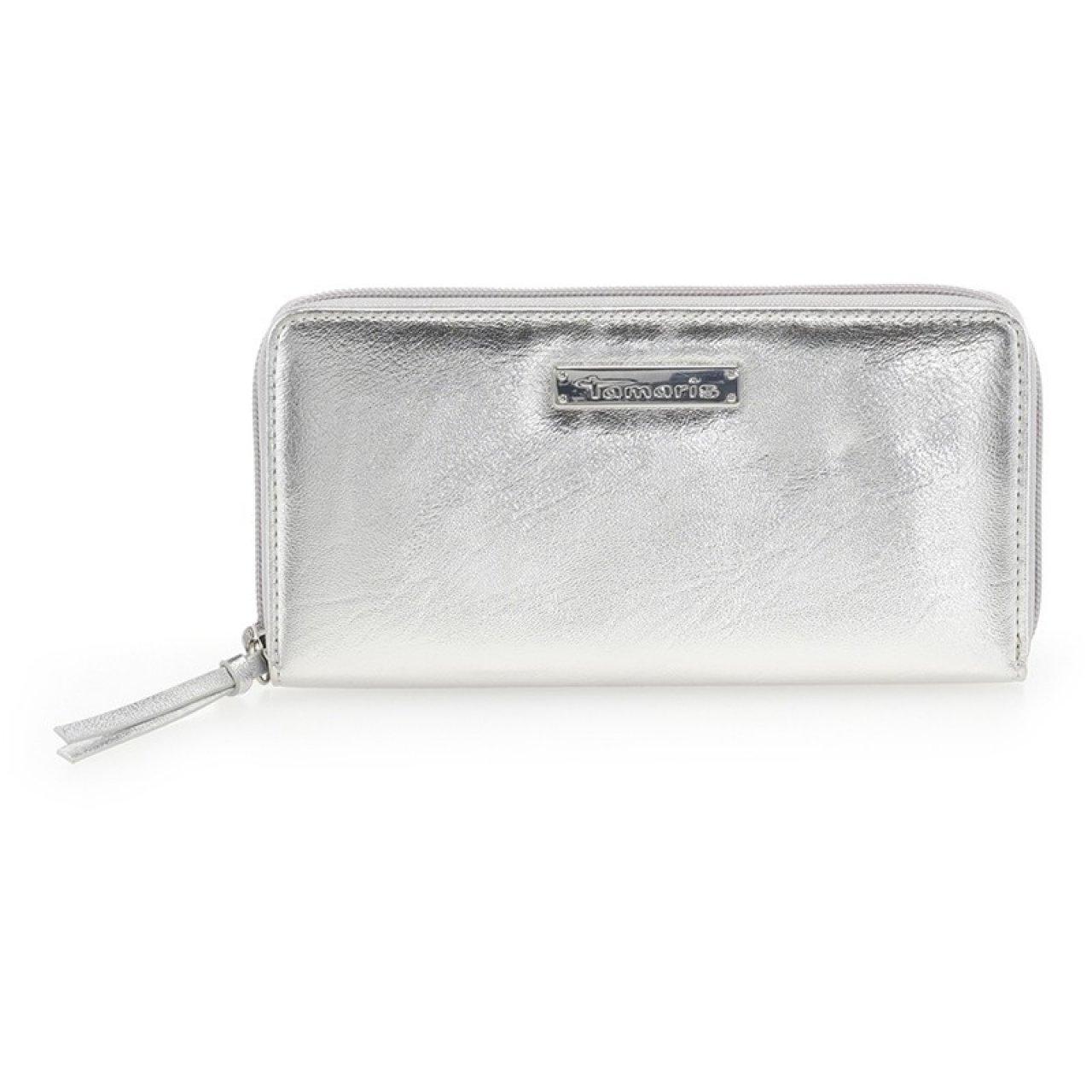 c7681f6fa8f Dámská peněženka Tamaris Debora - stříbrná