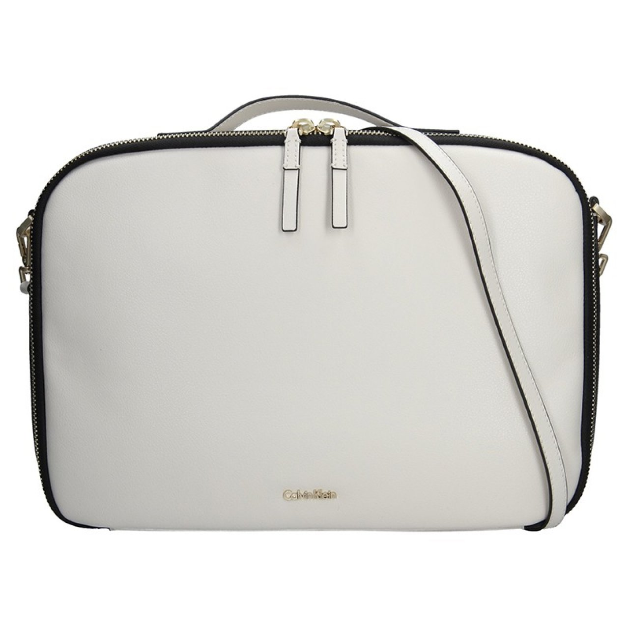 eee524a421 Dámská taška na notebook Calvin Klein Aurora - krémová