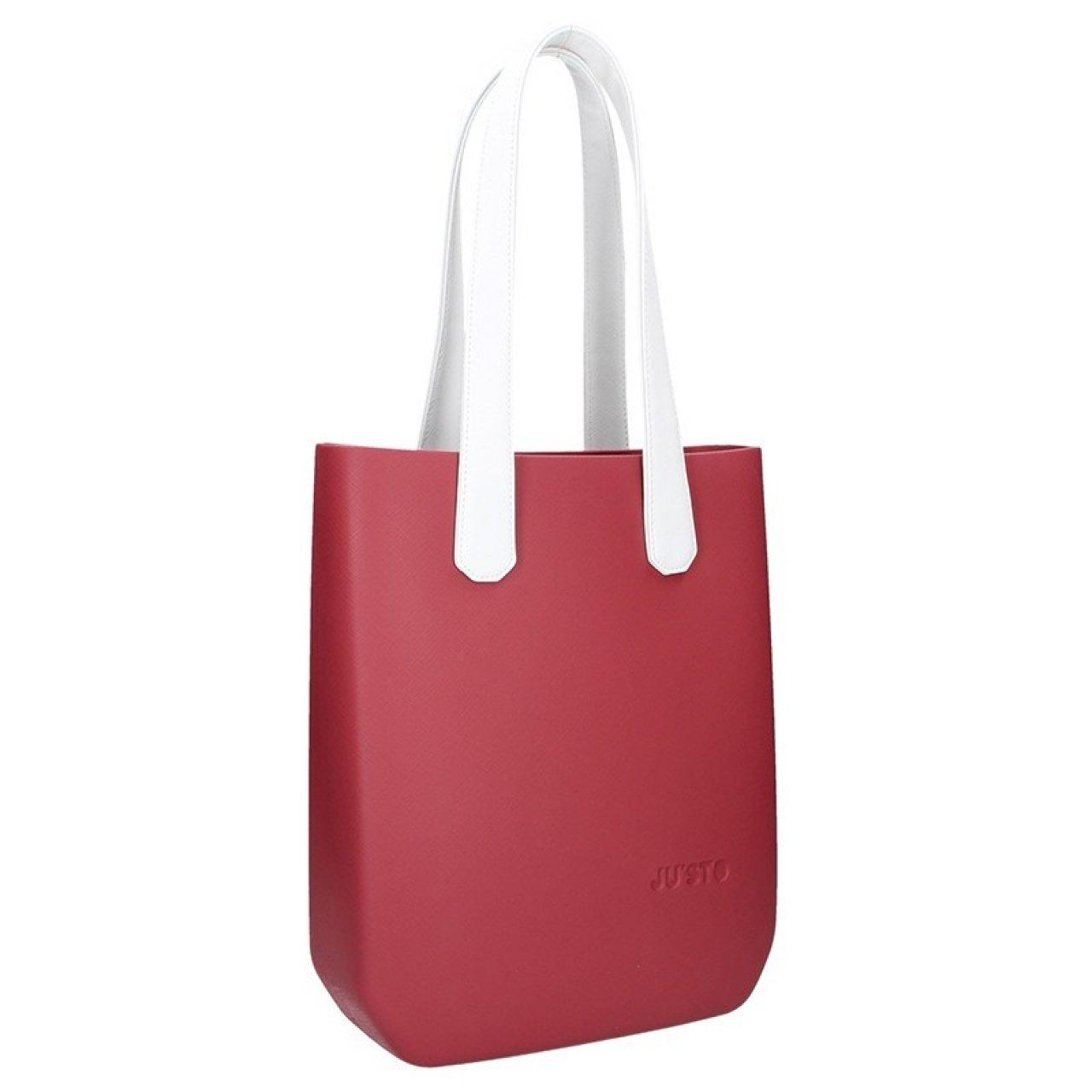 d68e946d60 Dámská trendy kabelka Ju sto J-High - červeno-stříbrná