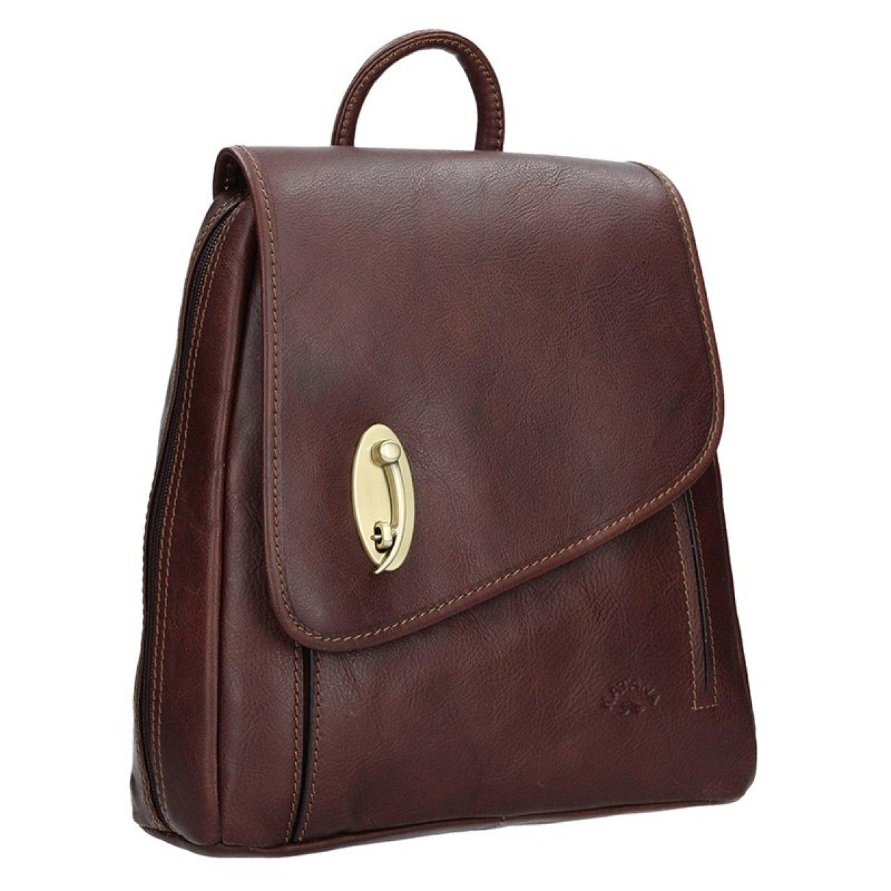 20608ff65a6 Elegantní dámský kožený batoh Katana Nora - tmavě hnědá