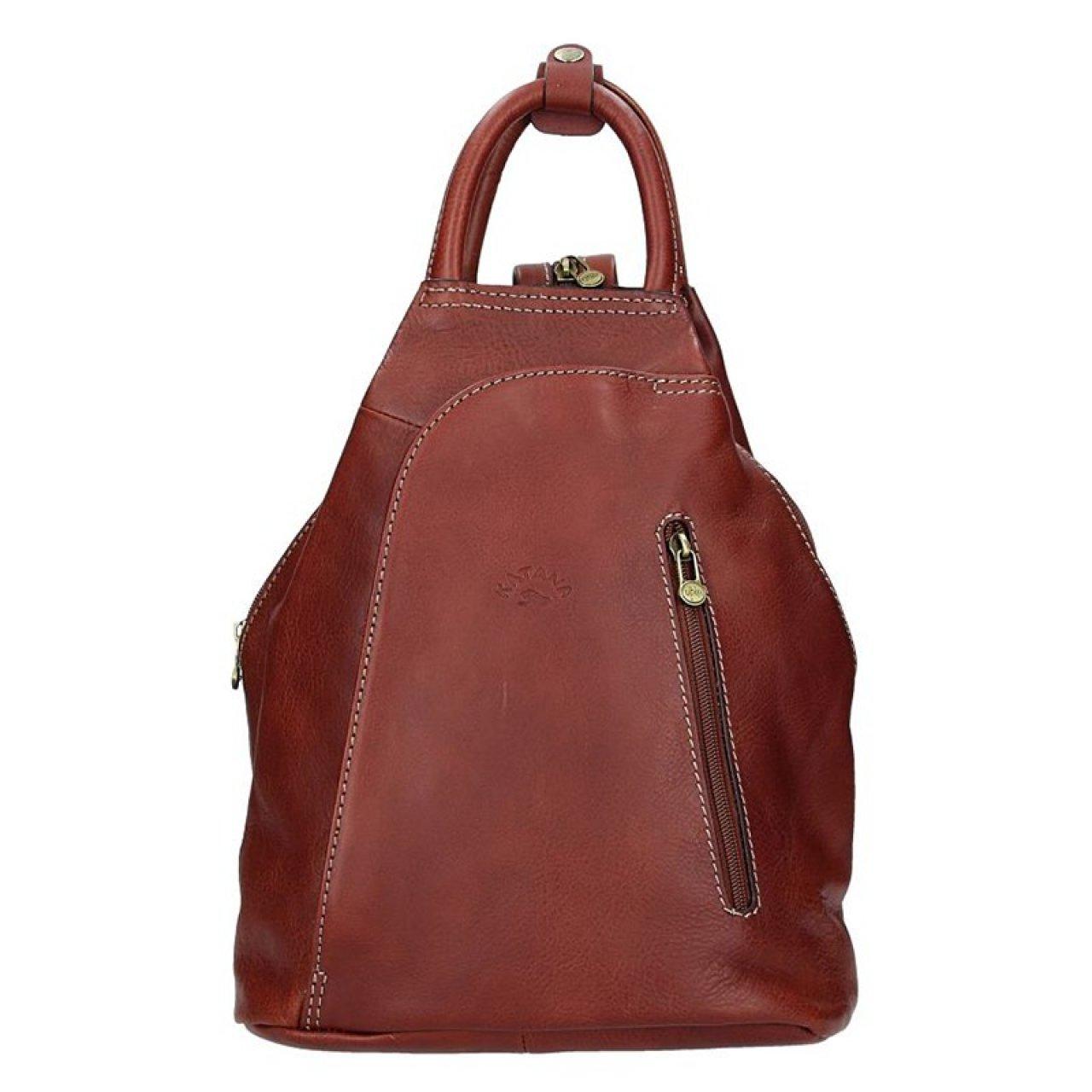 6f0ee2768b6 Elegantní dámský kožený batoh Katana Paula - hnědá