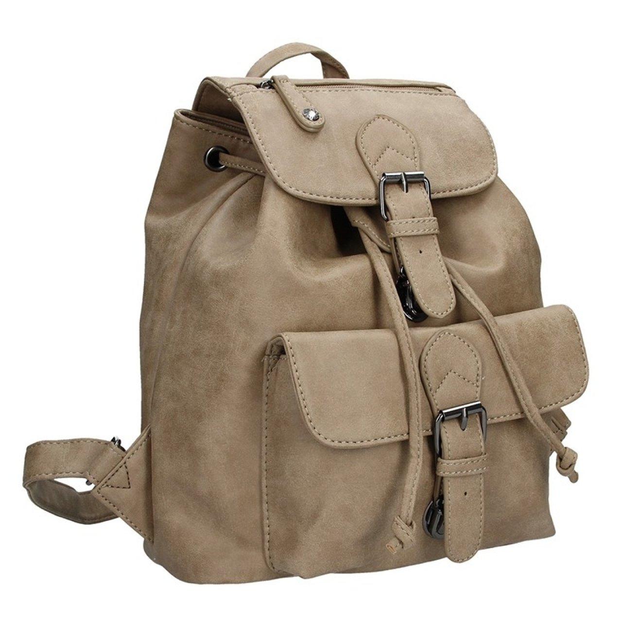 Moderní dámský batoh Enrico Benetti 66194 - světle hnědá  291afc7efc