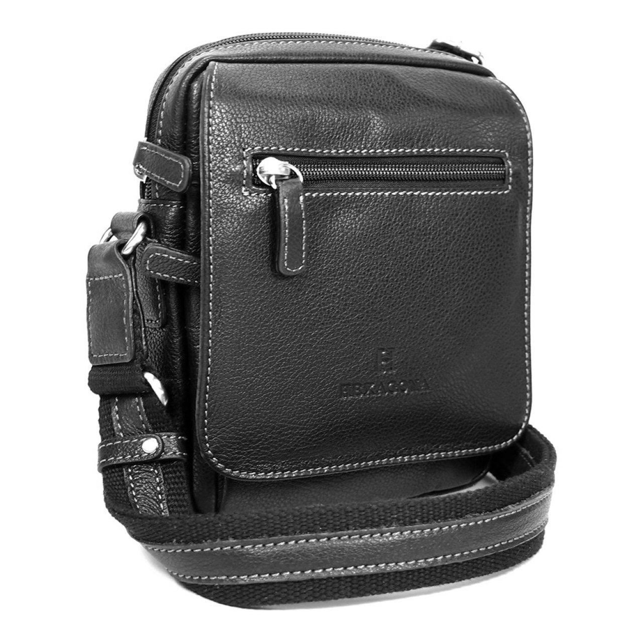 bc73e9c039 Pánská kožená taška na doklady Hexagona 463993 - černá