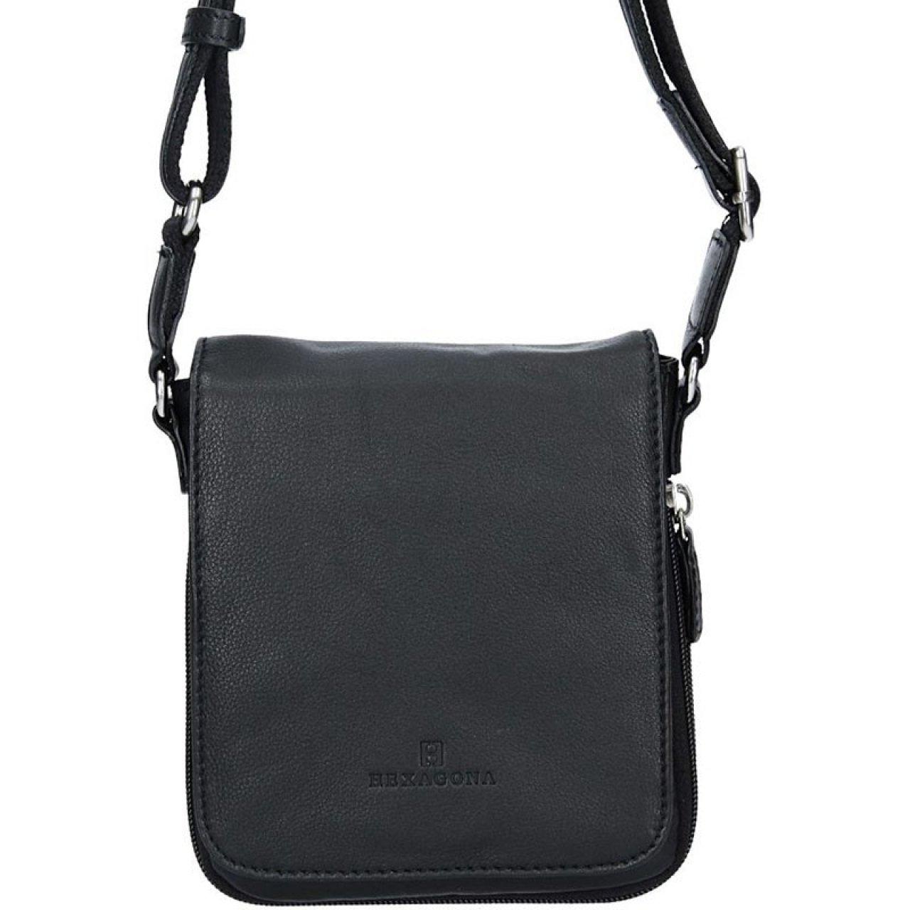 327f9cbfed Pánská kožená taška na doklady Hexagona Ernest - černá