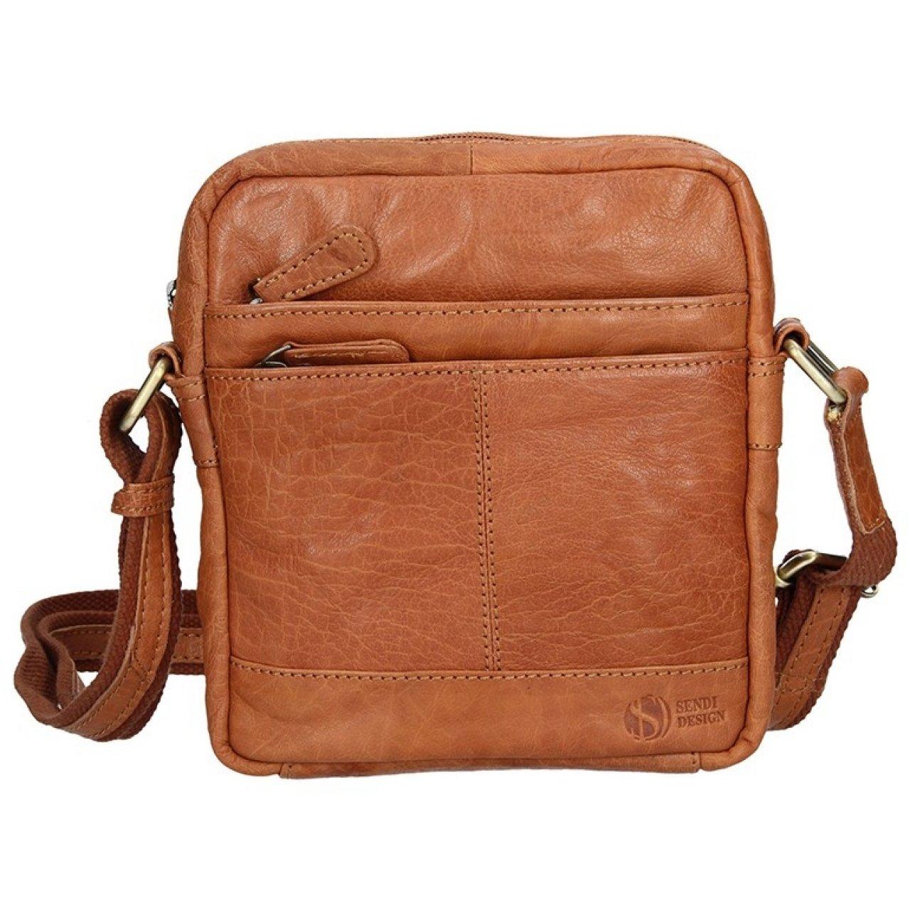85f2e33d53 Pánská kožená taška na doklady SendiDesign Daniele - světle hnědá ...