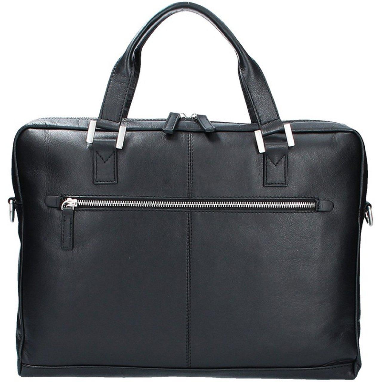 6c7b8a14429 Pánská kožená taška přes rameno Bugatti Manhattan - černá