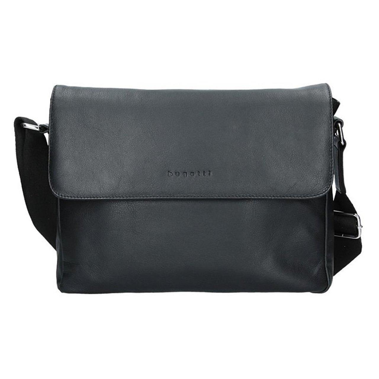 c92e87ebb0 Pánská kožená taška přes rameno Bugatti Olav - černá